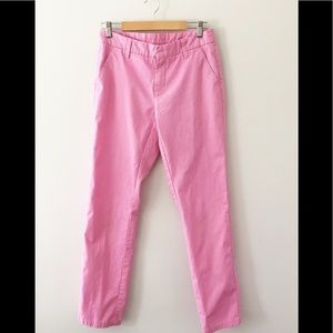 Garnet Hill Pink Chinos Trousers Size 6 - GUC